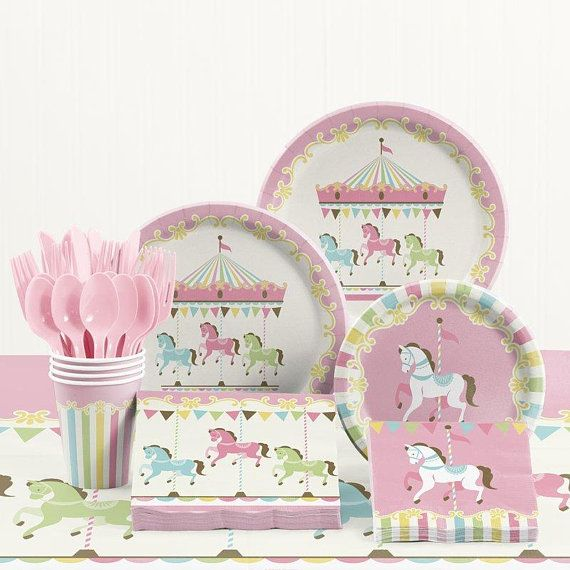Throw A Fabulous Over The Top Pastel Carosel Birthday