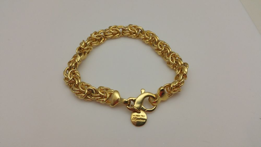 aaf86da4fe51e9 Mia Fiore Dyadema Bronze Italy Gold Tone Byzantine Bracelet  #MiaFioreDyadema #Byzantine