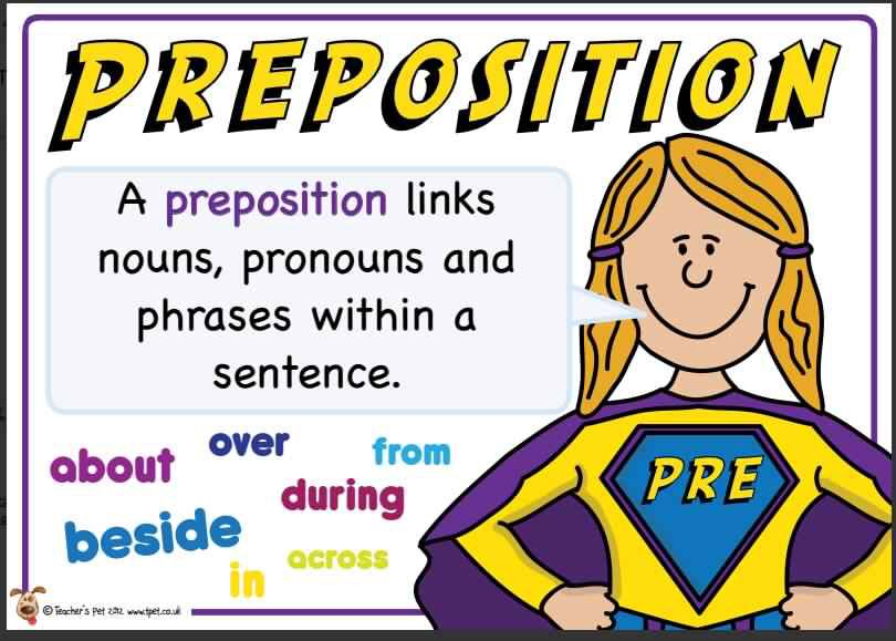 Preposition In Learn In Marathi All Complate: Preposition. Superhero Themed Grammar Resource For