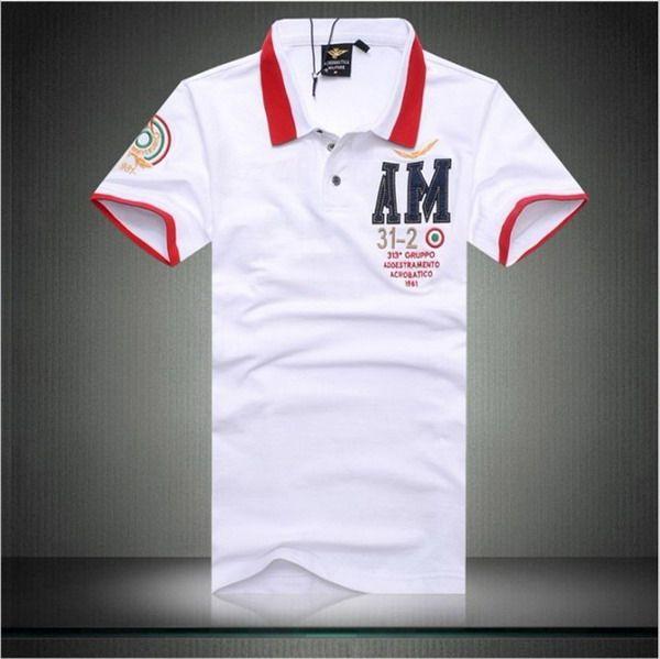 cheap ralph lauren polo shirts Aeronautica Militare AM 31-2 Short Sleeve  Men s Polo Shirt dc182aa46462
