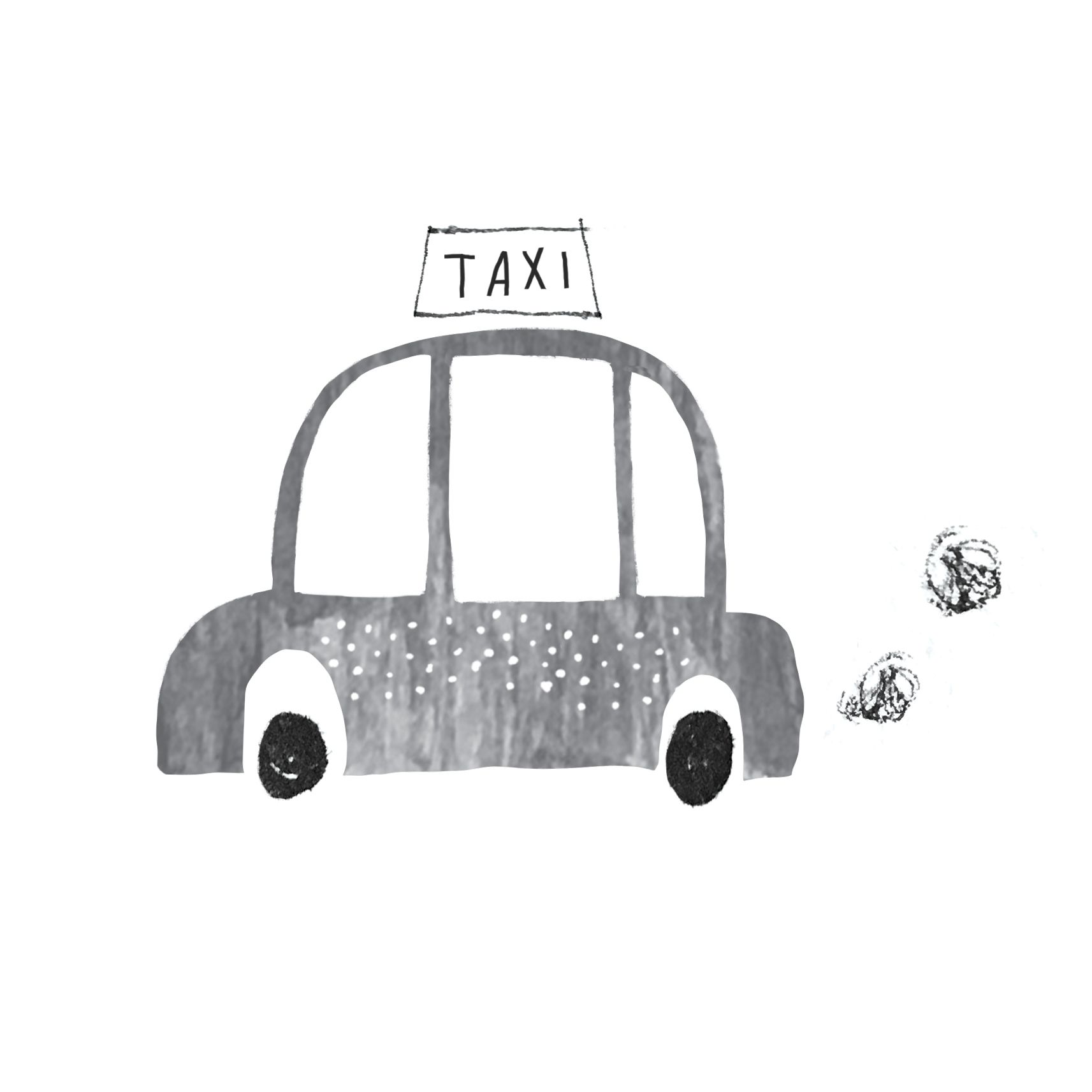 Alex Willmore Inktober 2016 Transport Texture Collage Taxi Car Cute Drawing Illustration Car Drawing Kids Car Drawing Easy Taxi Drawing