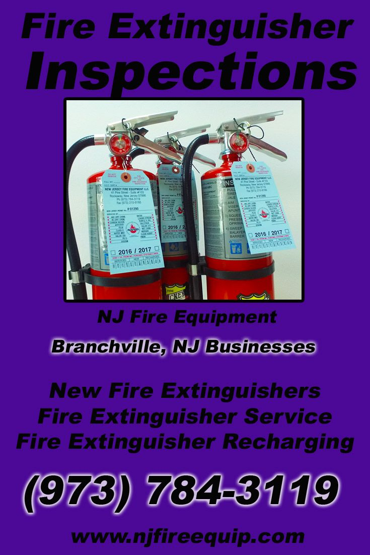 Fire extinguisher inspections branchville nj 973 784