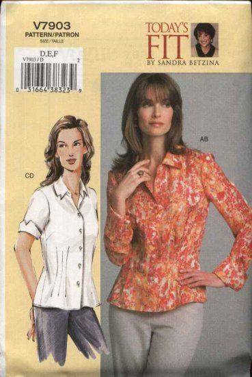 Vogue Sewing Pattern 7903 Womens Plus Size 24W-32W Sandra Betzina ...