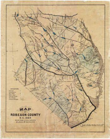 Map Of Robeson County Nc North Carolina Maps Cape Fear Region