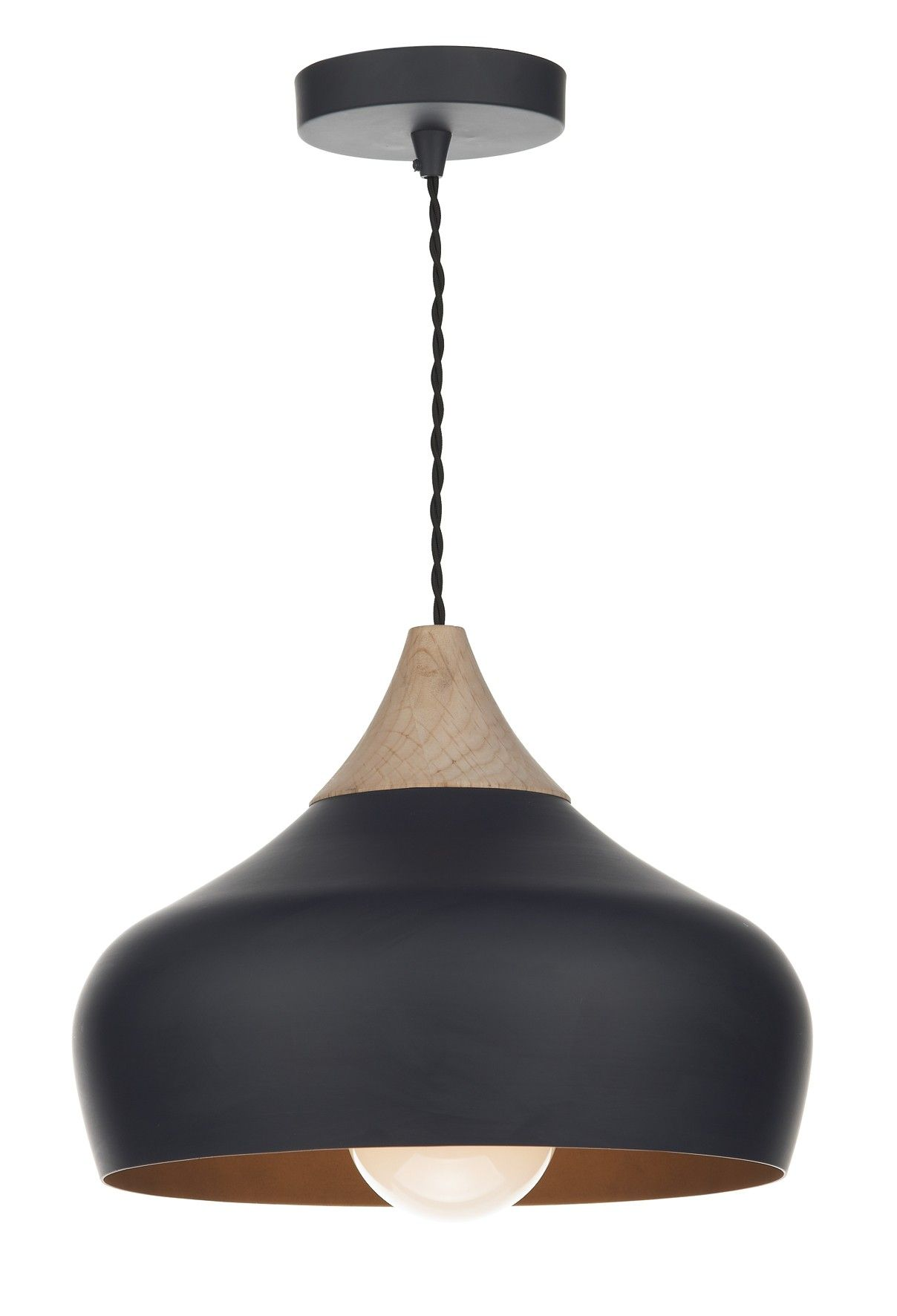 Suspension gaucho m tal noir et bois amenagement for Suspension bois