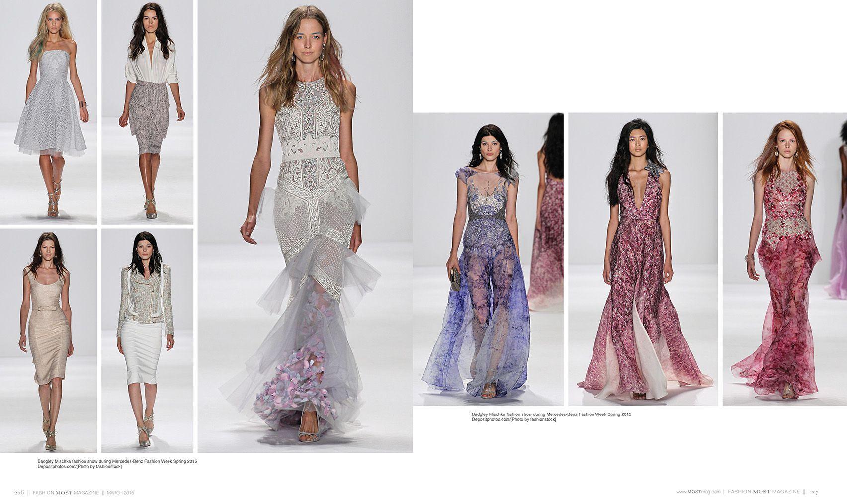 Badgley Mischka Fashion Show during Mercedes-Benz Fashion Week Spring / Summer Collection 2015 Image Credit: © Depositphotos.com / fashionstock #mostmag #Badgleymischka http://mostmag.com/fashion/badgley-mischka/ http://online.pubhtml5.com/dvie/ynee/#p=206-207