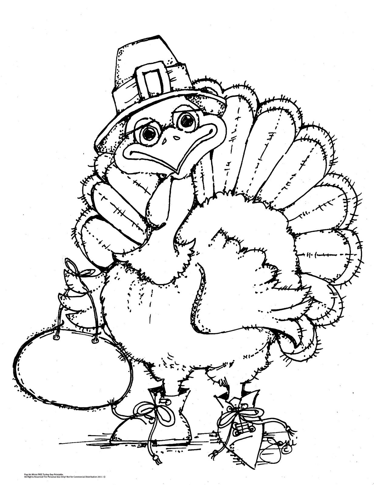 An Oldie But A Goodie Free Turkey Time Coloring Page Turkey