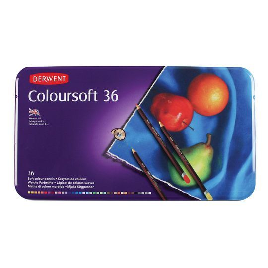 Derwent Coloursoft Pencil 36 Color Tin Set In 2020 Derwent