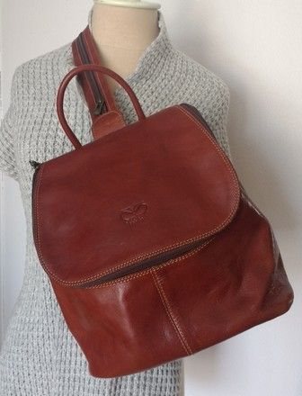 13eb8cd4f9fe Vintage designer Matias Salva Italian leather backpack | Gently ...
