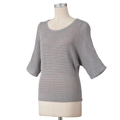ELLE Lurex Crochet Sweater