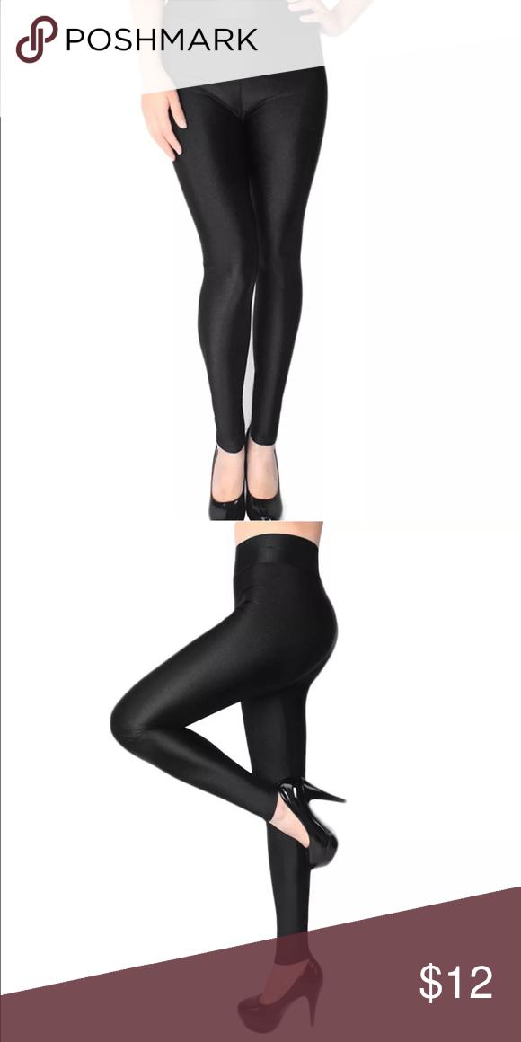 7aa20ca7c1fda Plus size 14 16 Shiny black Spandex Leggings Brand new in package! Black  shiny Spandex leggings. Estimated size 14/16 Women's Pants Leggings