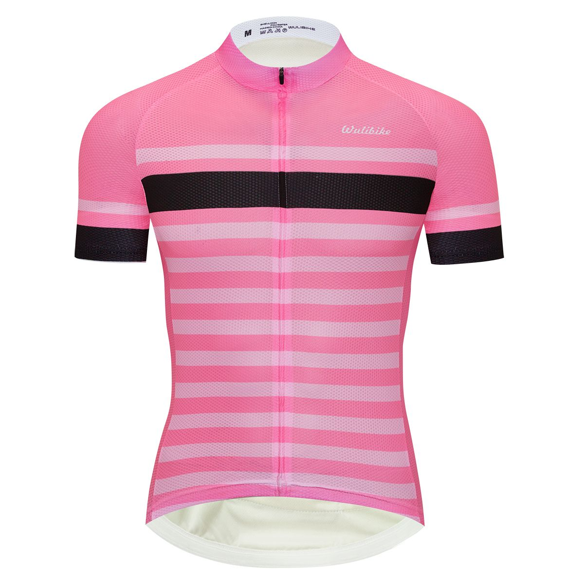 Wulibike Simple Pink Cycling Jersey For Men Roadcycling