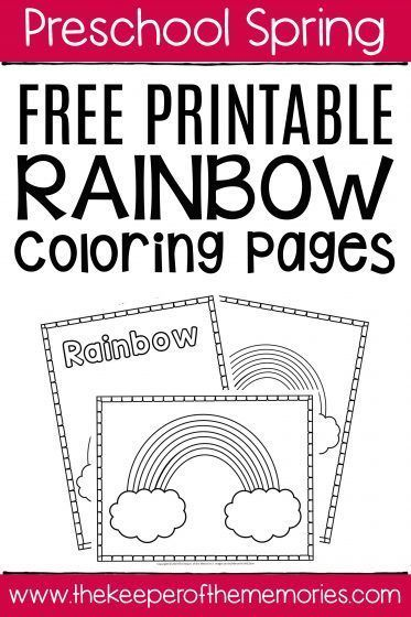 Free Printable Rainbow Coloring Pages | Kids learning ...