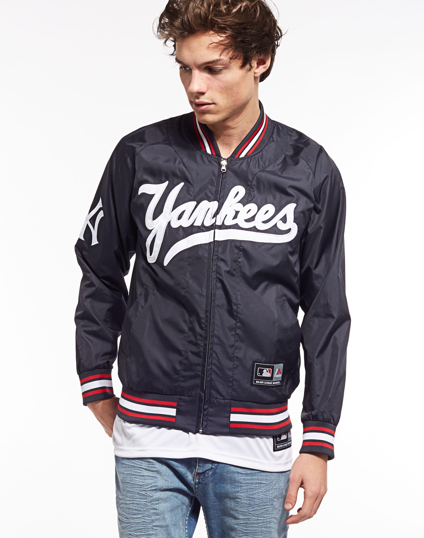 Majestic Athletic Ambrose Yankees Satin Jacket Majestic Athletic Brands Shop For Men S Clothing