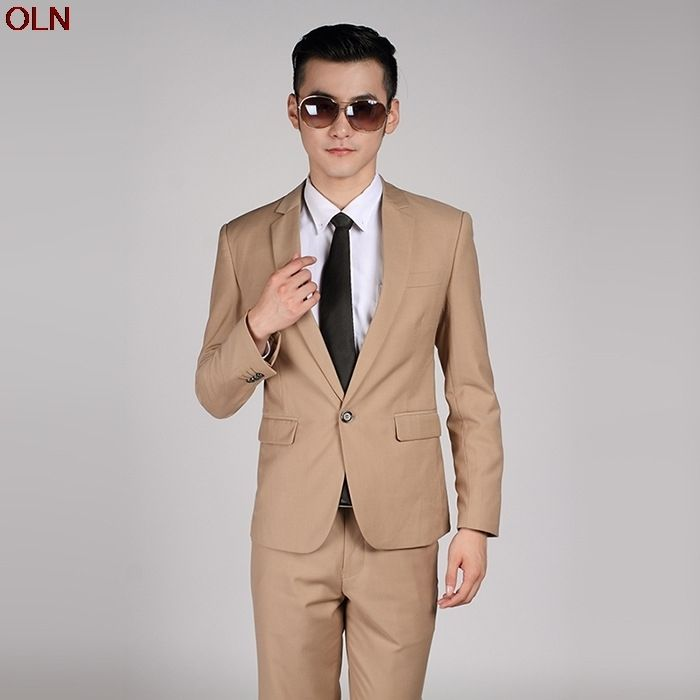 2017 new men pure color suits the groom Cultivate one\'s morality ...