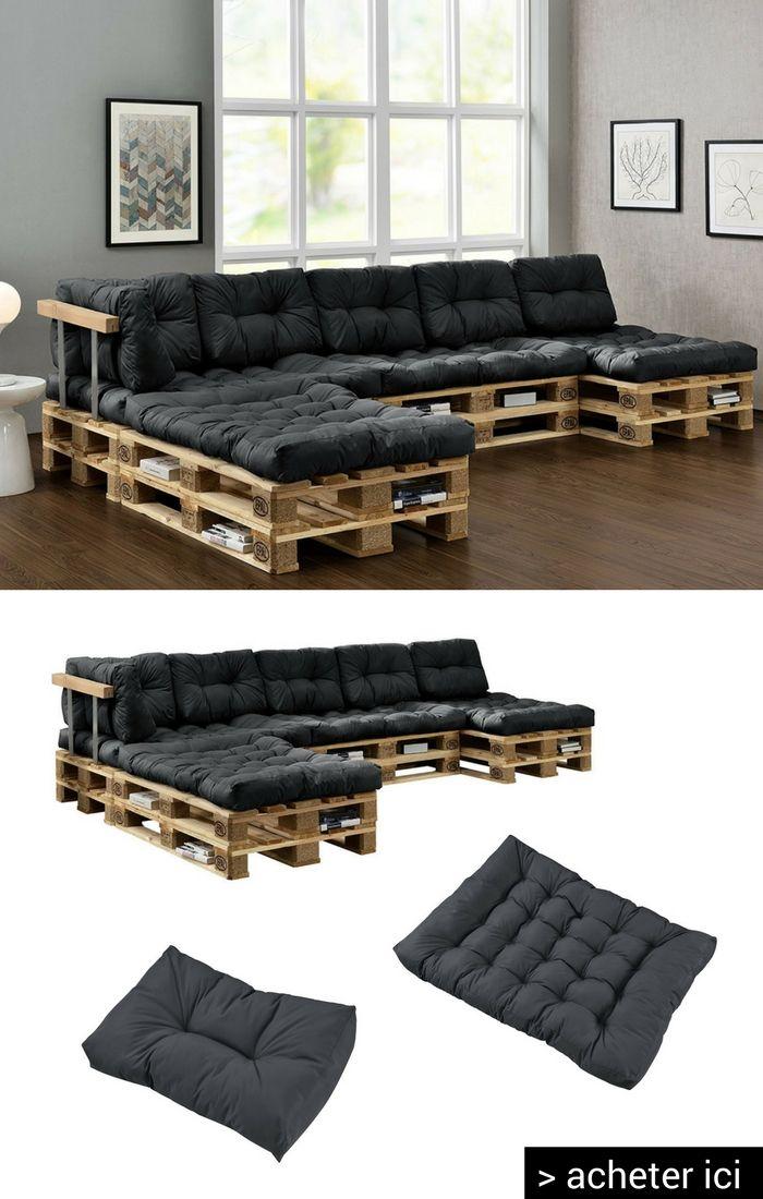 Acheter des coussins aux dimension des palettes pour fabriquer un canap confortable ou m me un - Ou acheter un salon de jardin ...