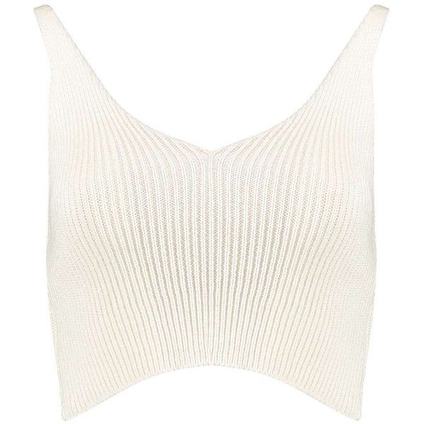 Madelyn Knitted Bralet ❤ liked on Polyvore