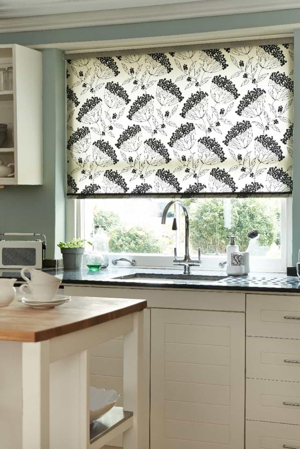 Functional And Decorative Kitchen Window Blinds Blindsandcurtainstogether Verticalblindskitc With Images Kitchen Window Blinds Kitchen Curtain Designs Living Room Blinds