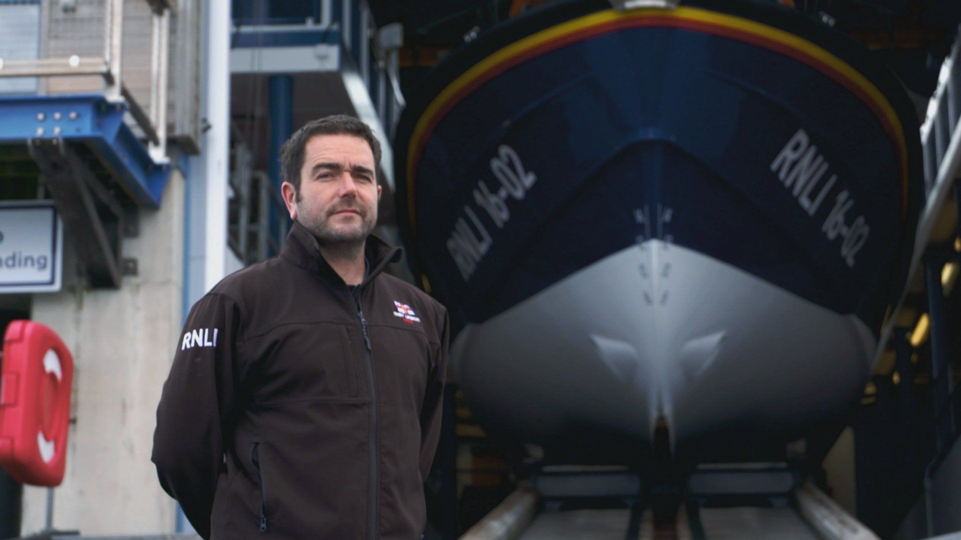 Phil and his Lifeboat. Puma jacket, Athletic jacket, Tenby