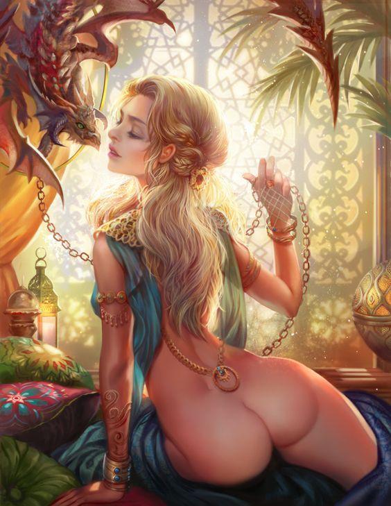 fantasy art dragons having sex