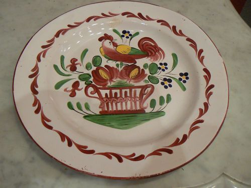 ancienne assiette faience est luneville coq 19 eme fr.picclick.com