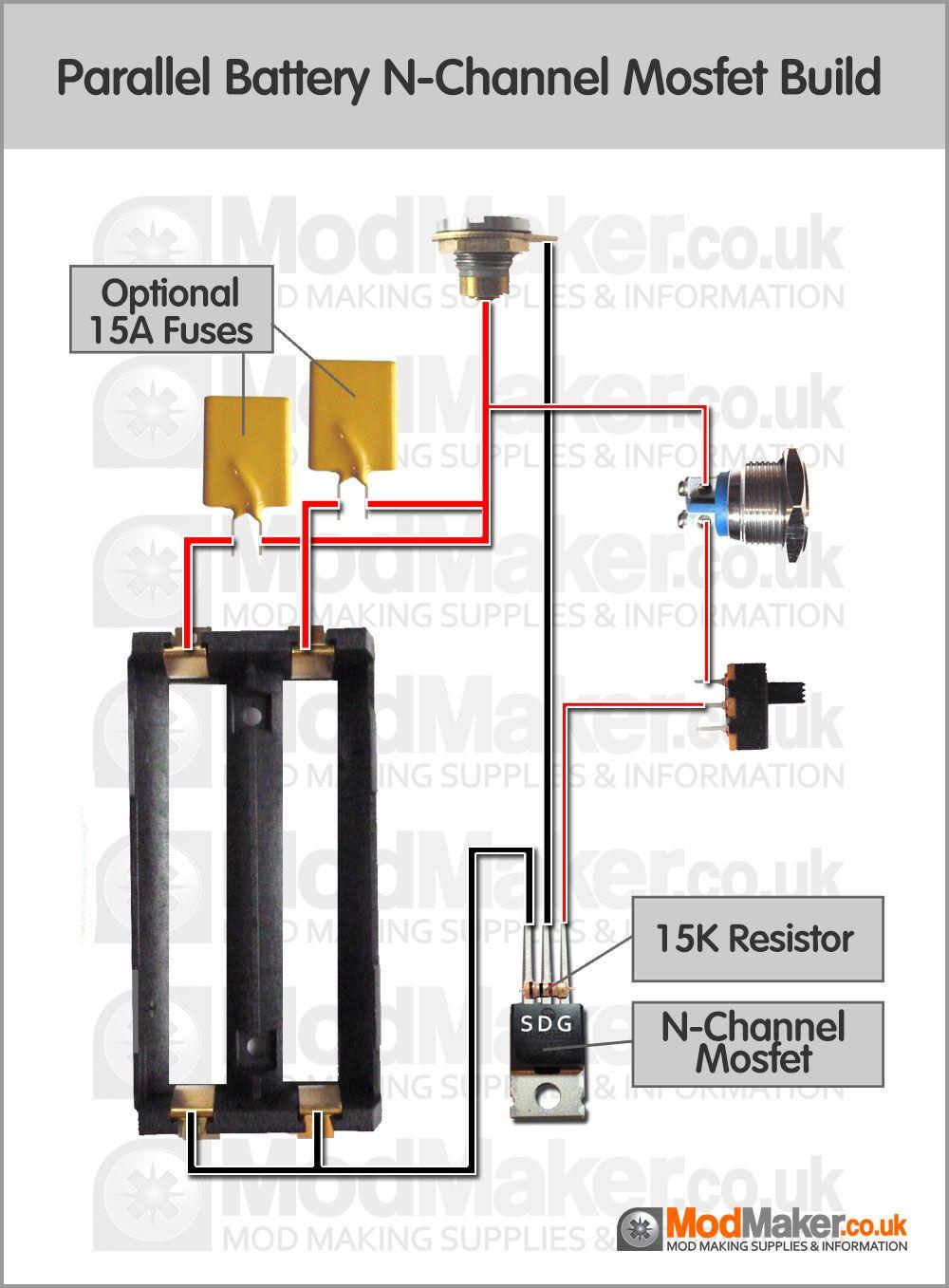 medium resolution of parallel battery n channel mosfet wiring diagram vape mods diy vape box vape