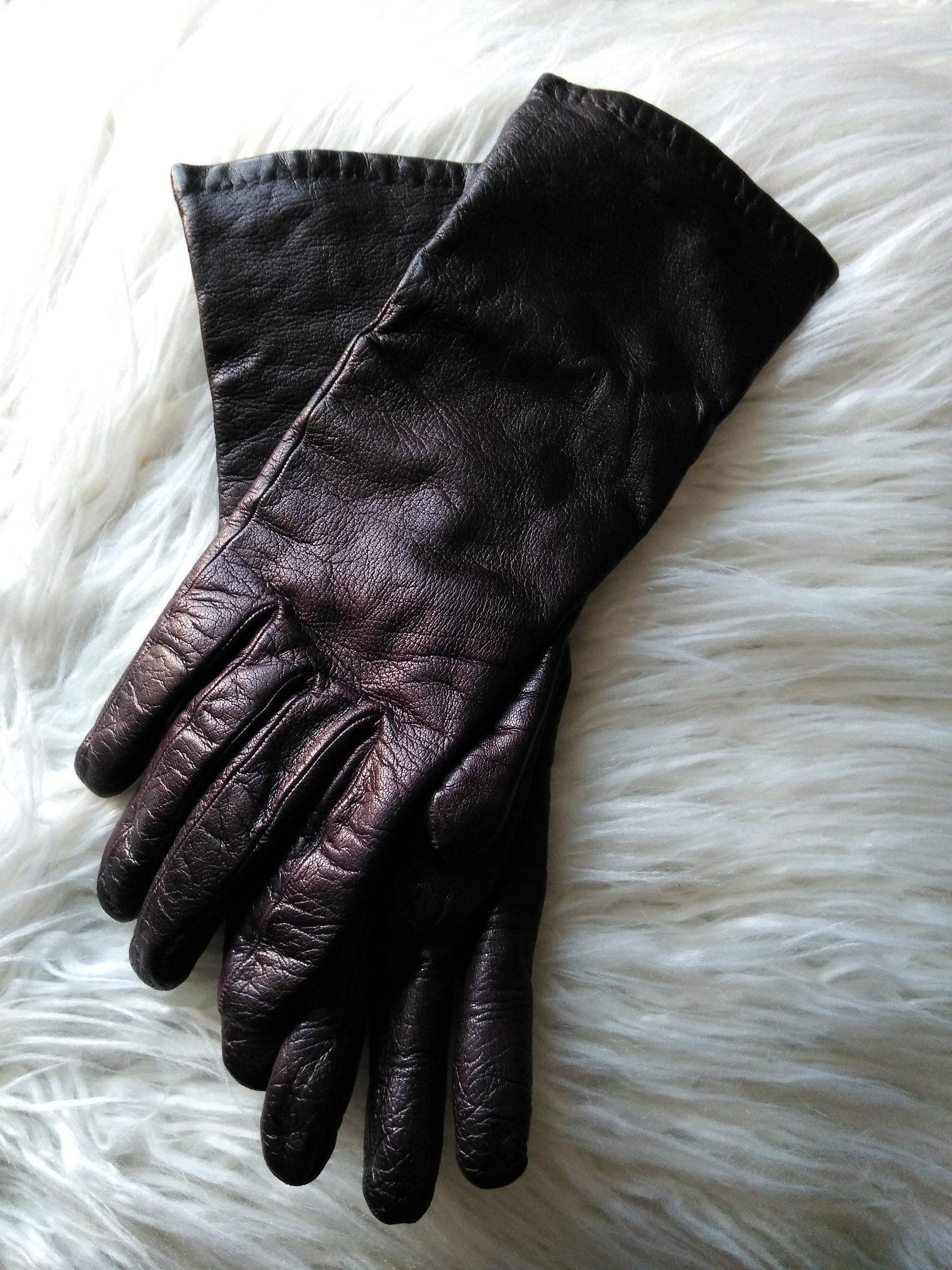 15da1591e1108 Brown Leather Gloves Woman Vintage Gloves size 8. | Etsy | Vintage ...
