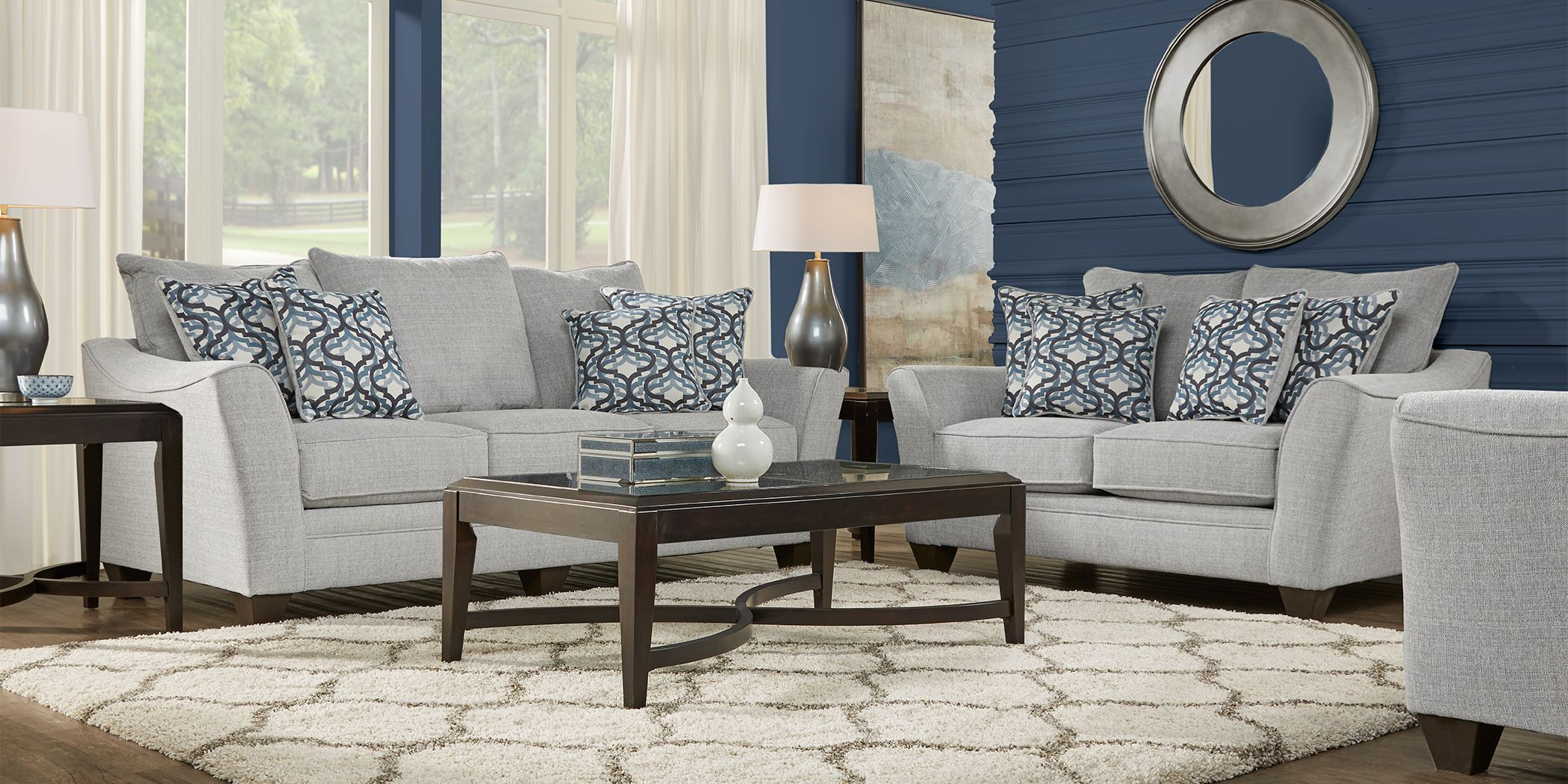 Victoria Park Dove 7 Pc Living Room Living Room Sets Furniture Rooms To Go Furniture Living Room Furniture