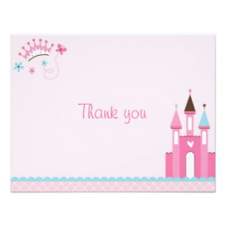 Princess Baby Girl Thank You Cards Baby Shower Thank You Cards Pink Blank Note Cards