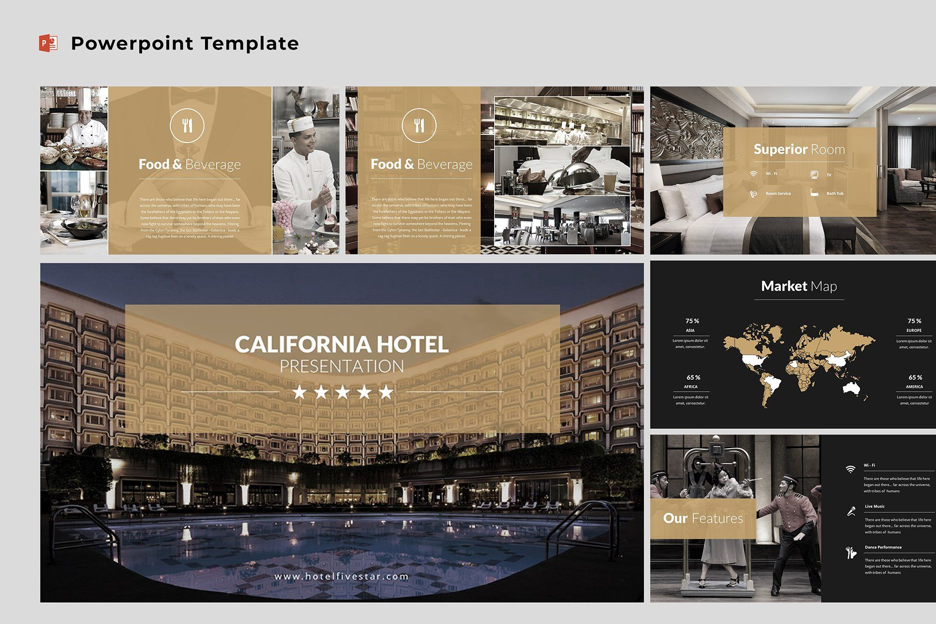 Hotel Powerpoint Template Keynote Template Powerpoint Templates Presentation Templates