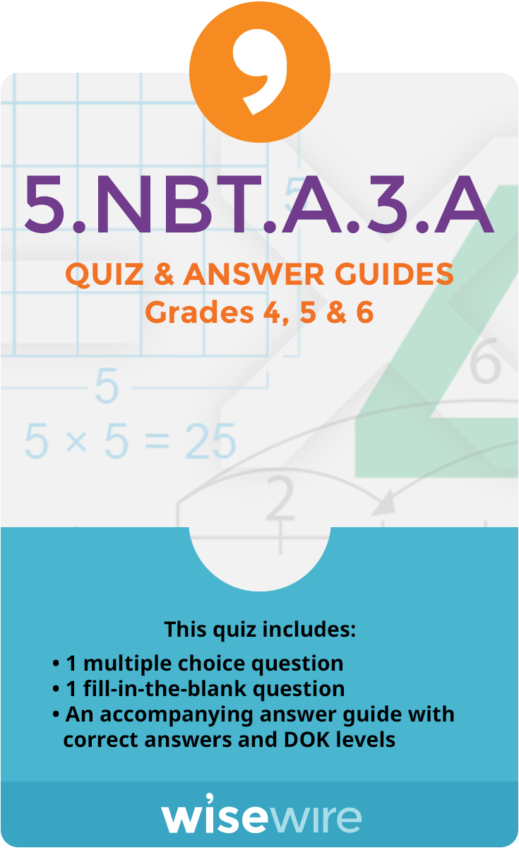 5.NBT.A.3.A - Quiz and Answer Guide | Numeral numbers, Elementary ...
