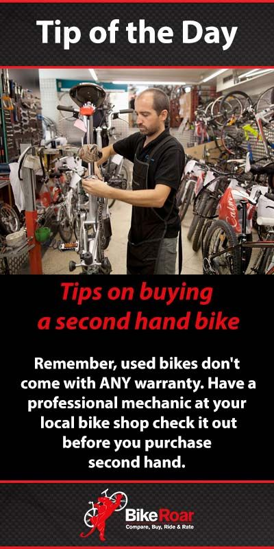 Remember, used bikes don't come with ANY warranty. Have a professional mechanic at your local bike shop check it out before you purchase second hand