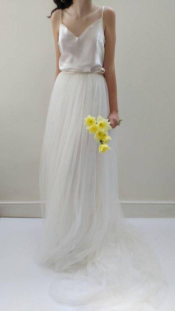Hochzeitskleid/Brautkleid trennt - Seide Tüll Wedding Gown Skirt ...