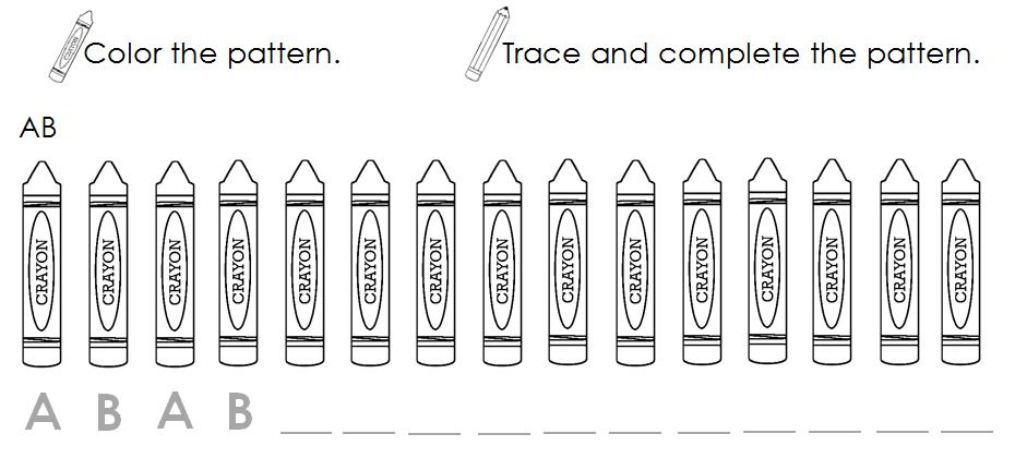 Pattern Worksheets : ab pattern worksheets preschool ~ Free ...