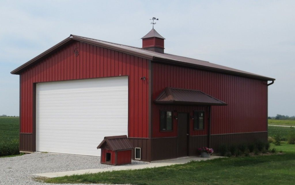 Garage With Matching Dog House By Greiner Buildings Www Greinerbuildings Com Pole Barn Homes Building A Pole Barn Barn House Plans