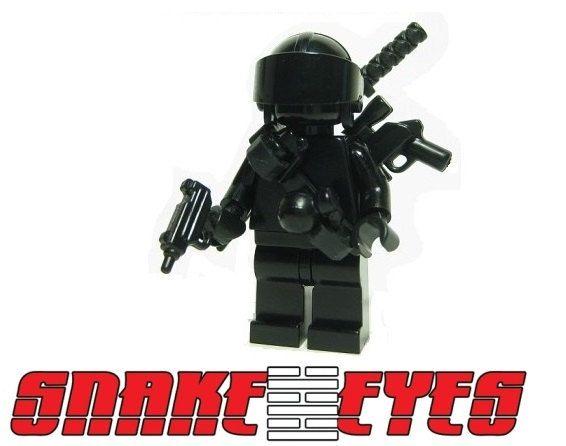 Custom Rock N Roll Gi Joe Cobra minifigures on lego bricks military army g i joe