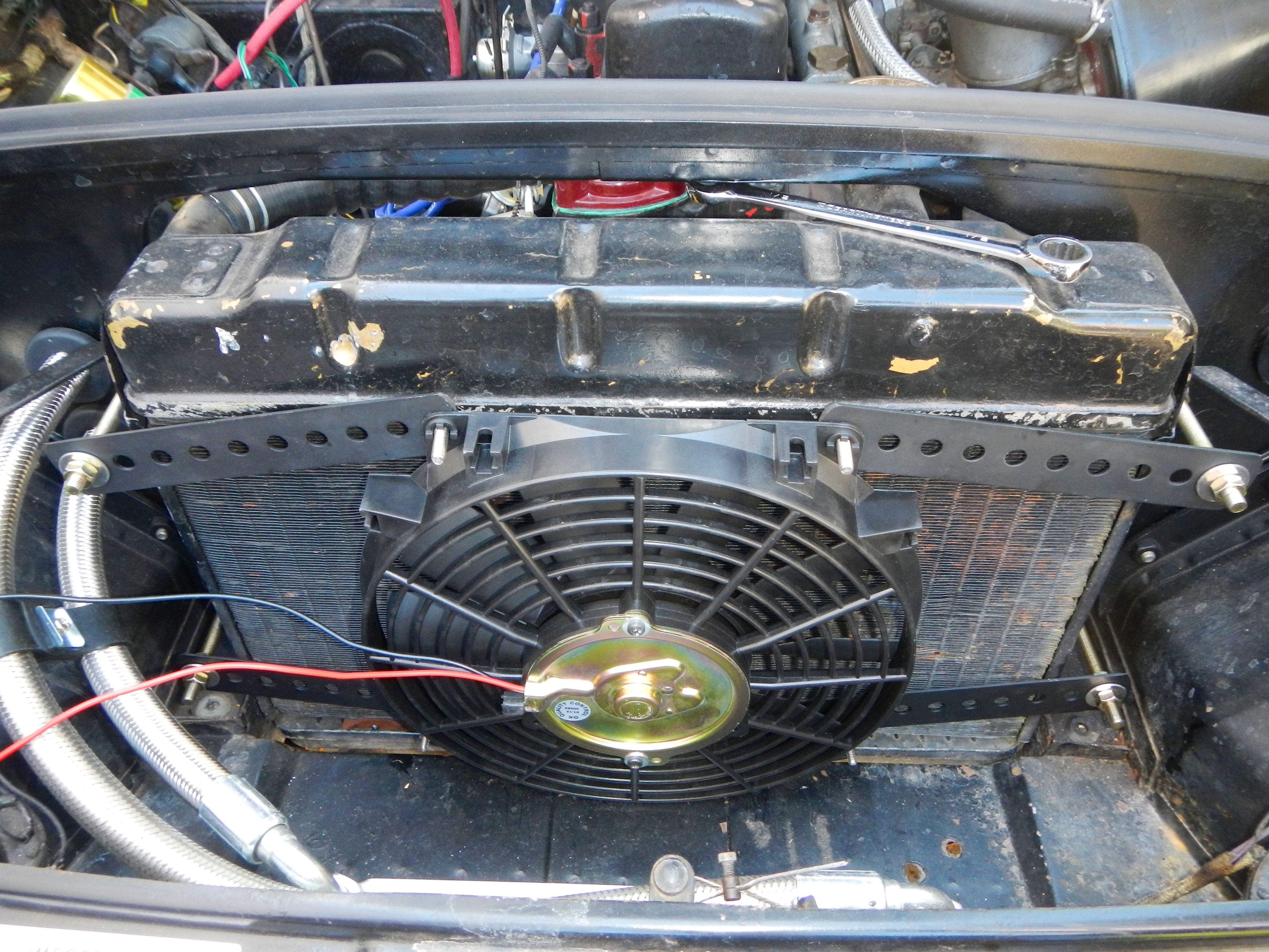 1963 Mgb Electric Cooling Fan Installation Electric Cooling Fan