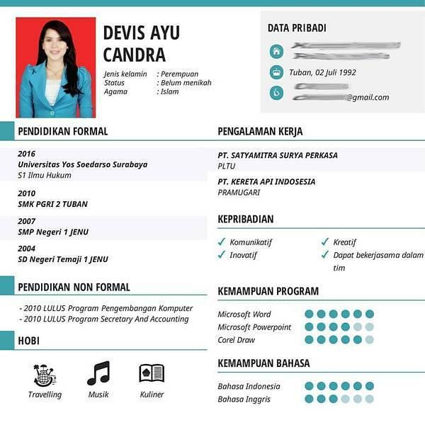 10+ Contoh CV (Curiculum Vitae) Lamaran Kerja, Daftar Riwayat Hidup