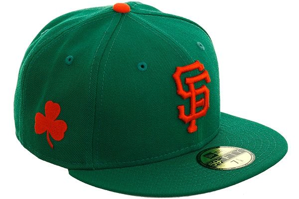 135e1019 New Era 5950 San Francisco Giants Clover Fitted Hat - Kelly Green ...