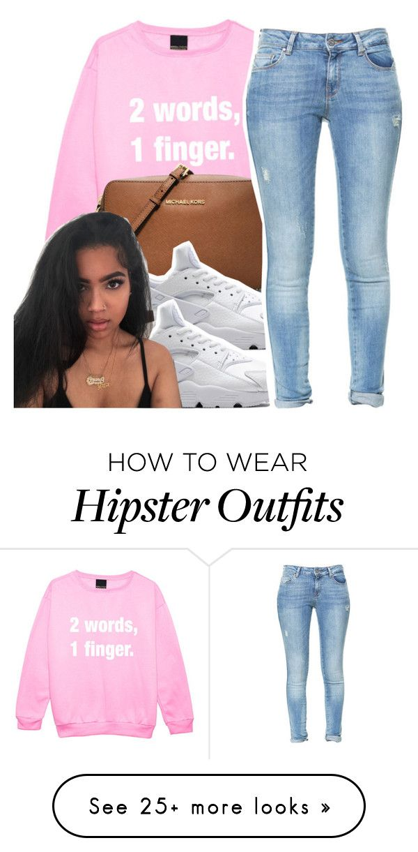"""""""i'm good, """" by glowithbria on Polyvore featuring MICHAEL Michael Kors, NIKE and Zara"""