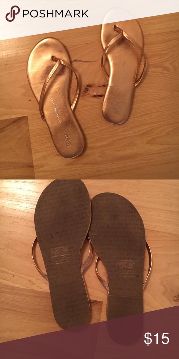 66e85127a8a8 Gap Rose Gold Flip Flops Gently used flip flops GAP Shoes Sandals ...