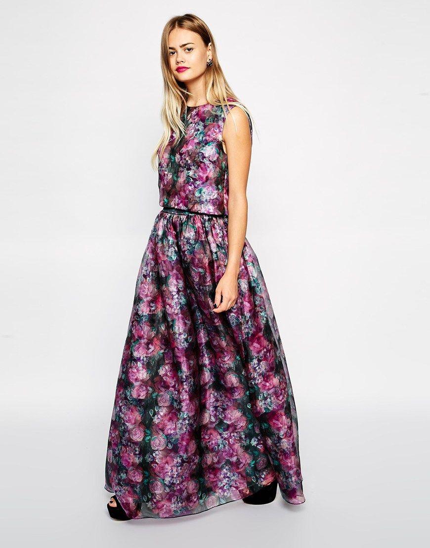 Full Floral Maxi Skirt   Jill Dress