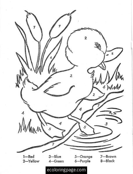 couleur de canard par des numéros | Embroidery Patterns | Pinterest ...