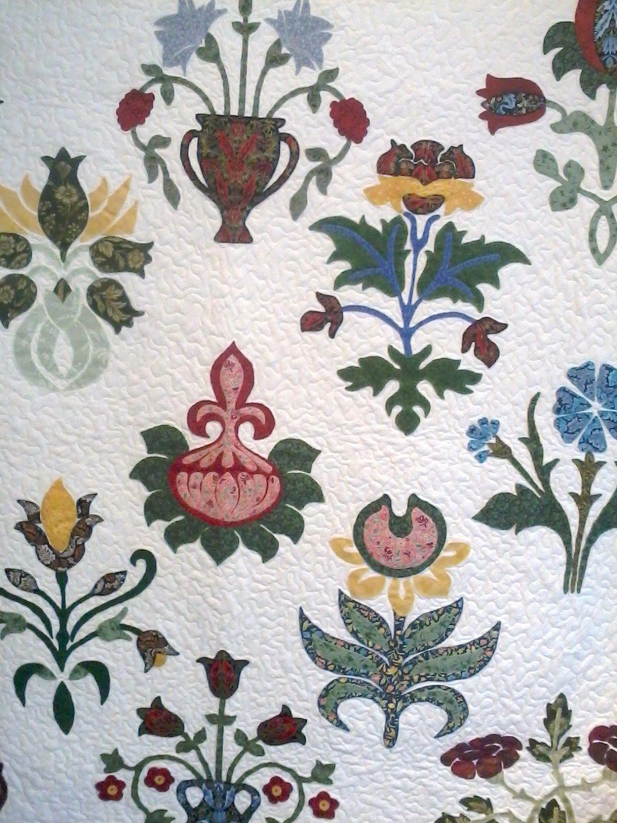 Linda\'s beautiful quilt - William Morris pattern | Applique Quilts ...