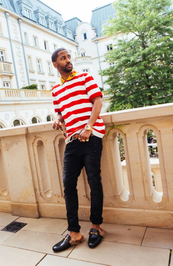 e7540c72b01 The rapper Big Sean was pictured rocking Gucci Princetown leather slippers  and Gucci… Simple Shoes