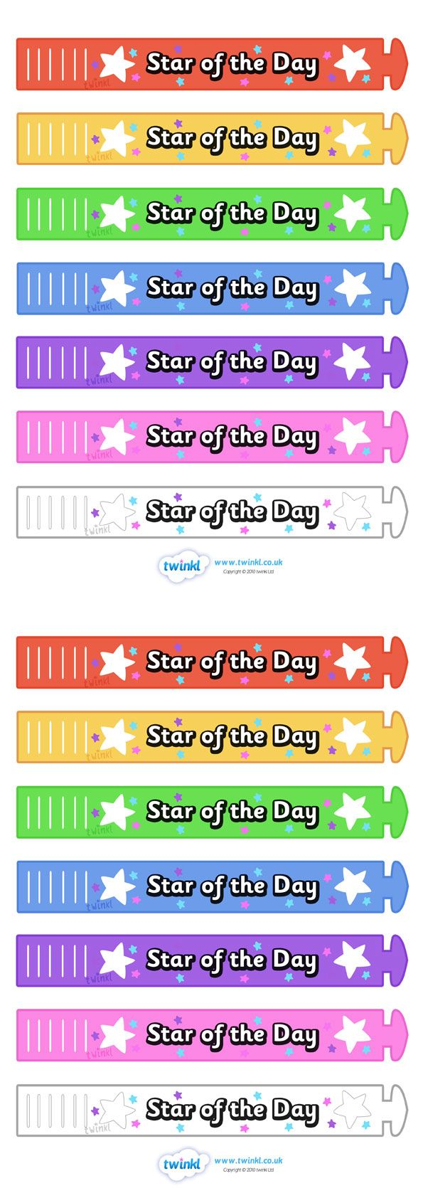 twinkl resources wristband awards star of the day thousands of printable primary