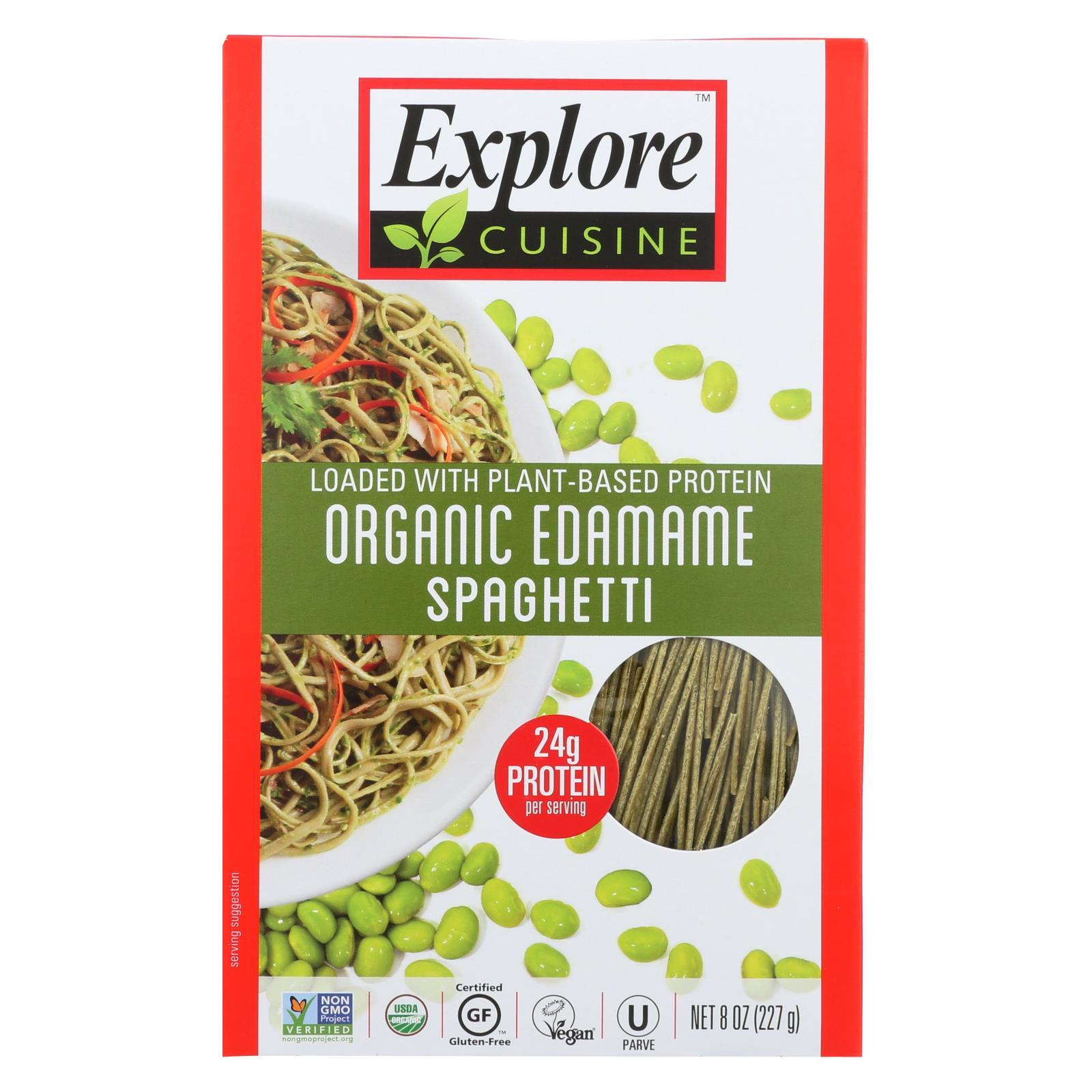 Organic Edamame Spaghetti By Explore Cuisine 1 Ingredient Green Soybeans With Images Edamame Spaghetti Pasta Substitute Pasta Alternative