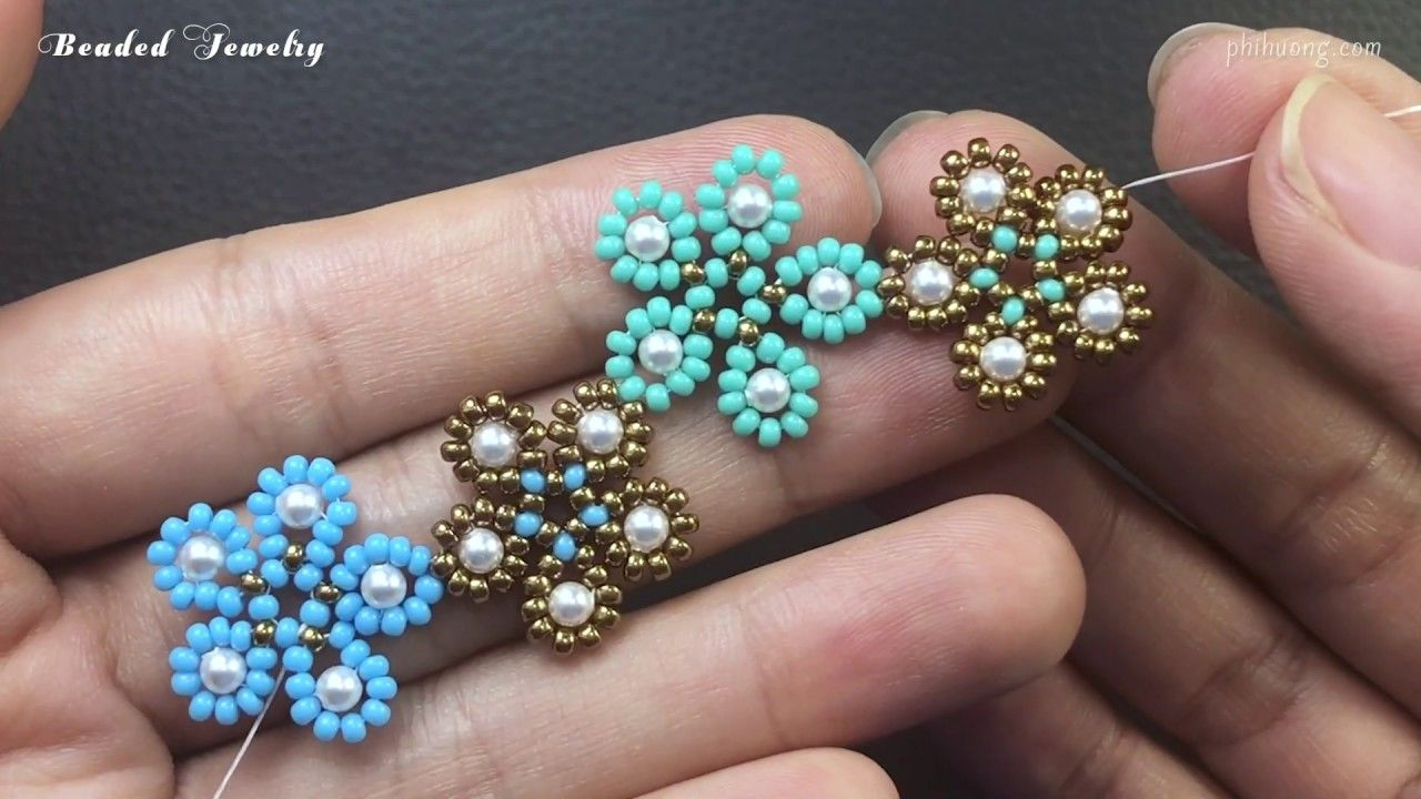 Photo of Five petal flower bracelet. How to make beaded bracelet. Beaded jewelry