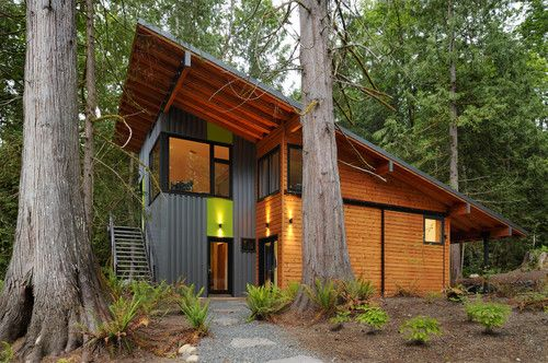 Contemporary Exterior By Johnston Architects Shed Roof Design Modern House Design Roof Design