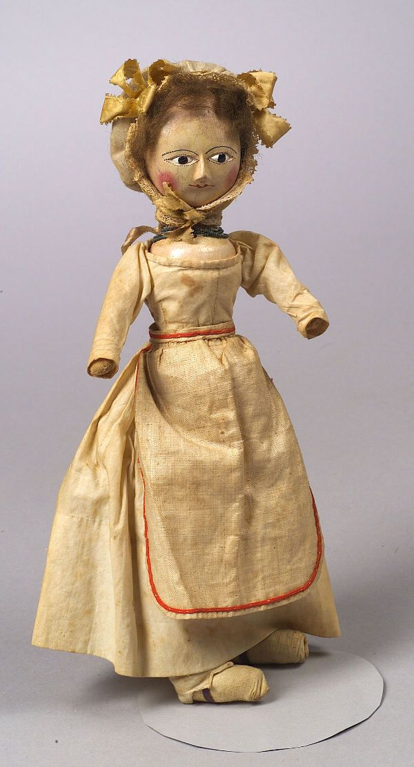 Early English Wooden Doll, late 18th/early 19th c